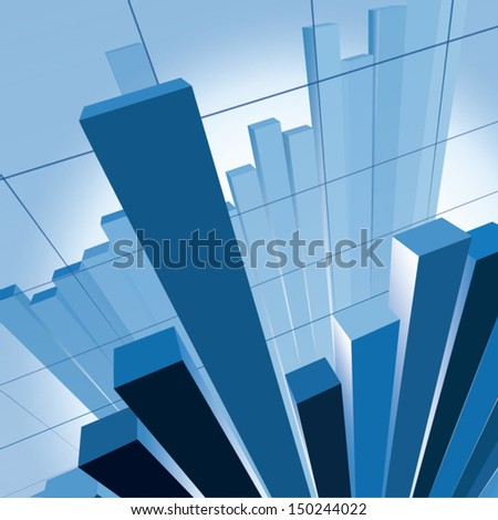 vector image of financial chart - stock vector