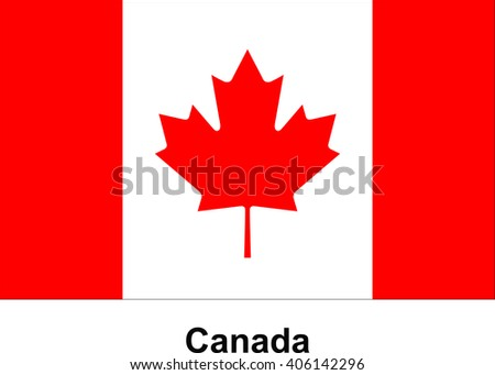 vector image of flag Canada - stock vector