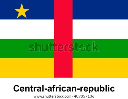 vector image of flag Central-african-republic
