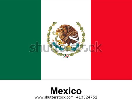 Vector image of flag Mexico
