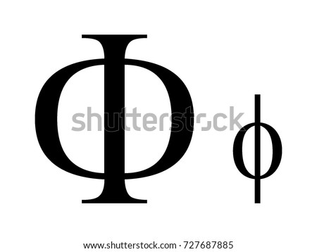 Vector Image Greek Letter Phi Stock Vector Shutterstock