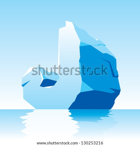 vector image of ice letter J - stock vector