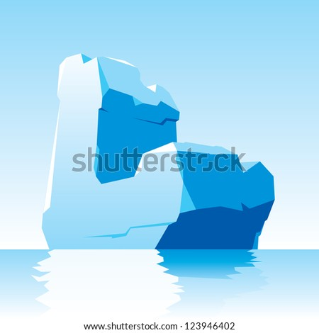 vector image of ice letter L - stock vector