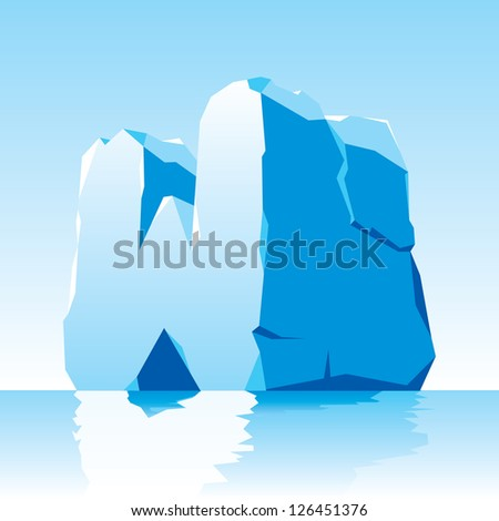 vector image of ice letter W - stock vector