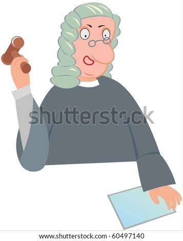 Vector image of judge