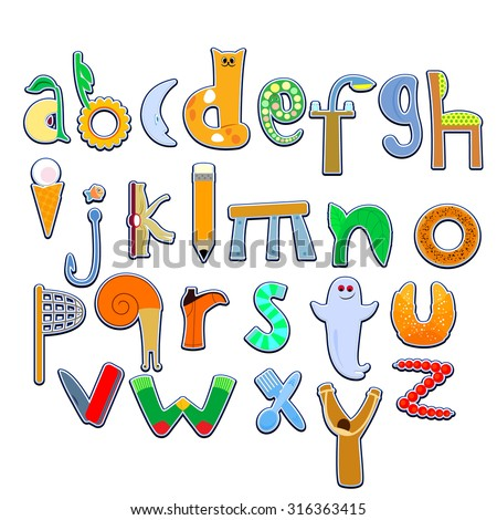 Vector image letters alphabet initial letters stock vector 2018 vector image of letters of the alphabet initial letters drawings all thecheapjerseys Gallery