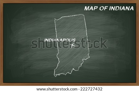 vector image of map of Indiana. Transparency used.