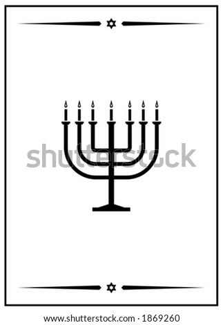 Vector image of Menorah. This is a vector image - you can simply edit colors and shapes.