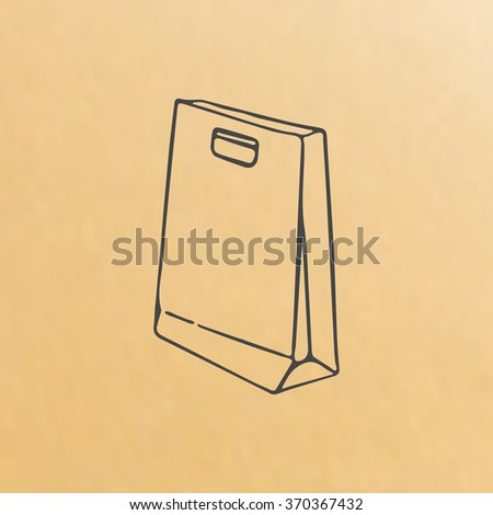 Vector image of paper bag scetch packing
