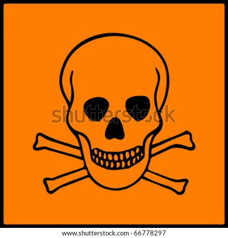 Vector image of symbol of hazard presents on dangerous products