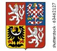 vector image of the national emblem of the Czech - stock vector