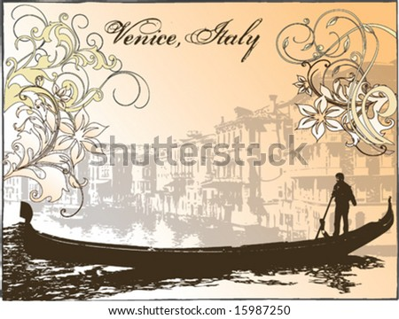 Vector image of Venice, Italy - stock vector