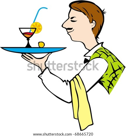 Vector image of waiter