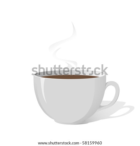 Vector image of white cup