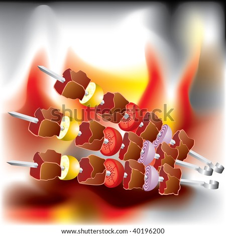Vector image on the Barbecue theme