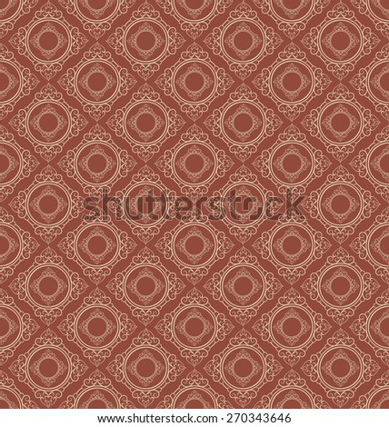 Vector image seamless pattern wallpaper for your design vintage style abstract background texture for design poster cards invitations book web design wallpaper for walls background pattern brown color - stock vector