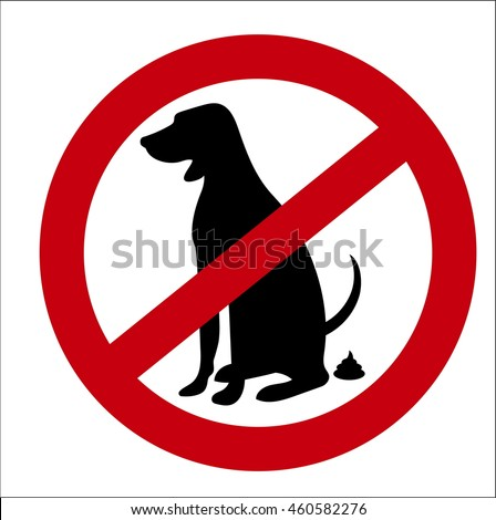 vector image sign of the ban on pooping dogs
