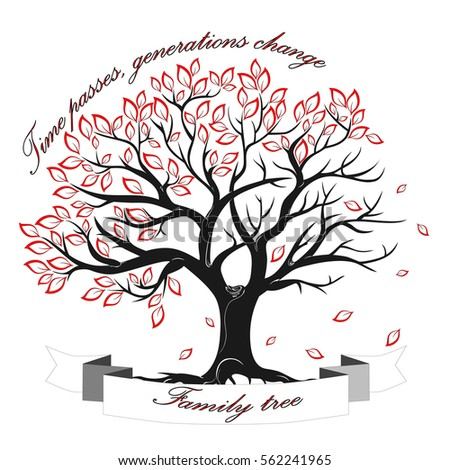 Vector Image Template Family Tree Isolated Stock Vector 562241965
