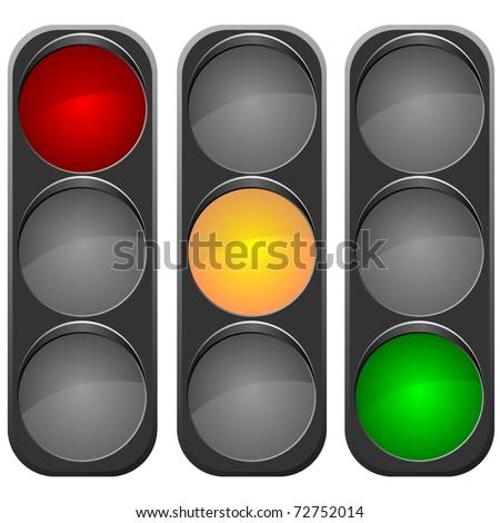 vector image traffic light - stock vector