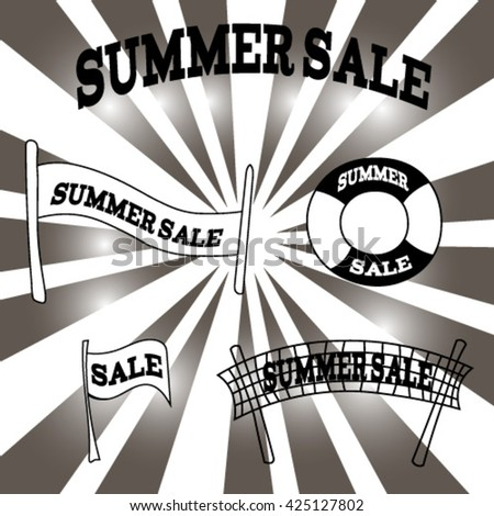 "vector image with inscription ""summer sale"""