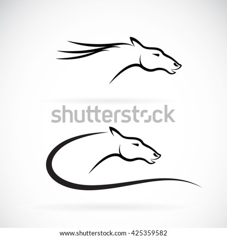 Vector images of horse head design on a white background,  Vector horse head for your design. - stock vector