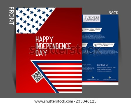 Vector Independence Day Flyer Stock Vector   Shutterstock