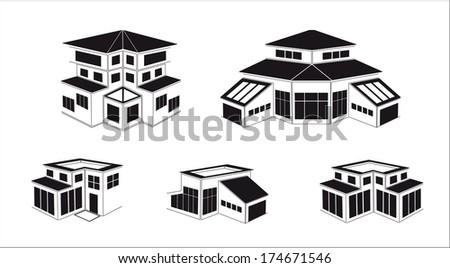 Vector industrial buildings and factories - stock vector