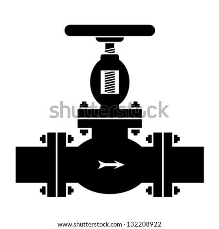 Vector Industrial Valve Symbol Stock Vector Royalty Free 132208922
