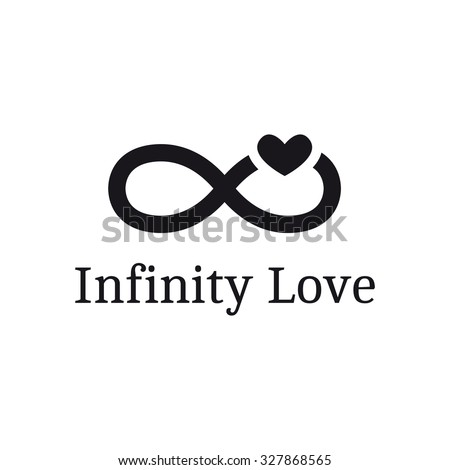 Vector Infinity Sign Heart Logotype Modern Stock Vector Royalty
