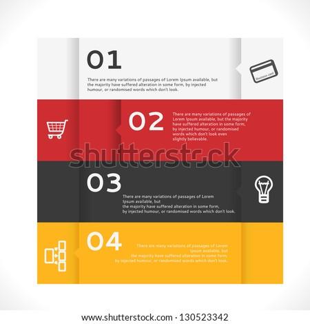 Vector Info graphic Banner. Modern Design Background. - stock vector