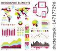 Vector info-graphic  elements set green 03 - stock