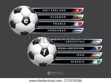 vector info graphic groups football 2014 - stock vector