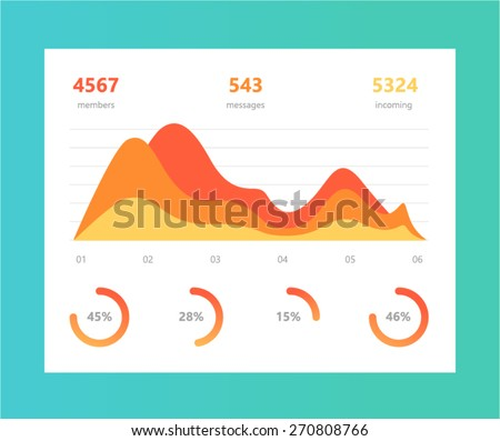 Vector info graphic illustration. Information Graphic Chart in modern flat style - stock vector