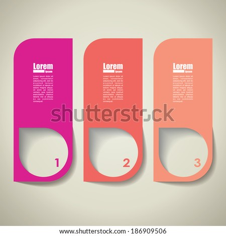 vector infographic  background. Banner template. - stock vector