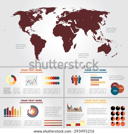 Vector infographic composition with business elements. - stock vector