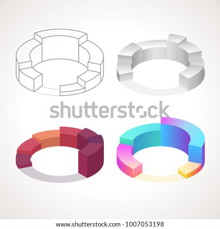 Vector Infographic Diagrams Different Types Charts Stock Vector