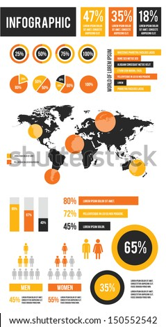 Vector Infographic Elements Set - stock vector