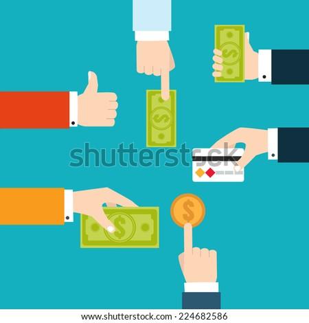 Vector infographic financial flowchart for money transfer   - stock vector