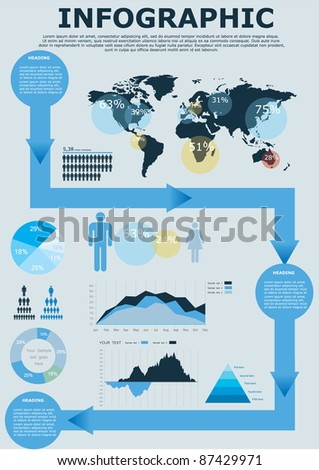 vector infographic illustration eps 10 - stock vector