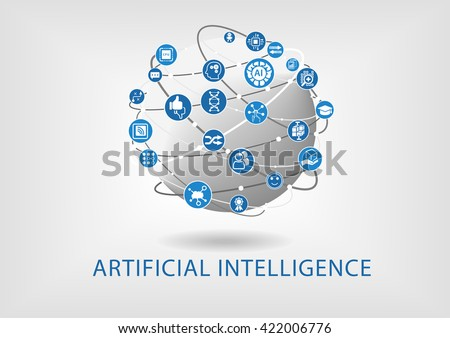 Vector infographic of artificial intelligence concept - stock vector