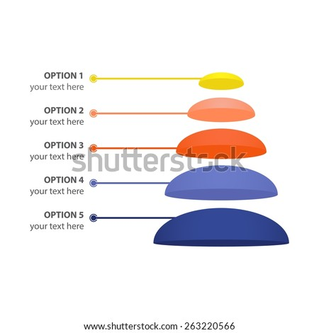 Vector Infographic of Sales or Marketing Pyramid, isolated on white - stock vector
