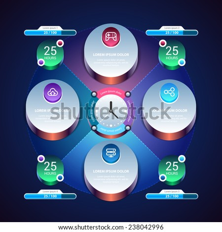 Vector Infographic template. Eps 10. - stock vector