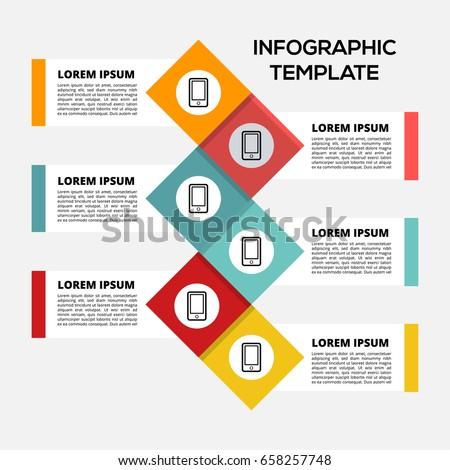 vector infographic template content diagram flowchart stock vector