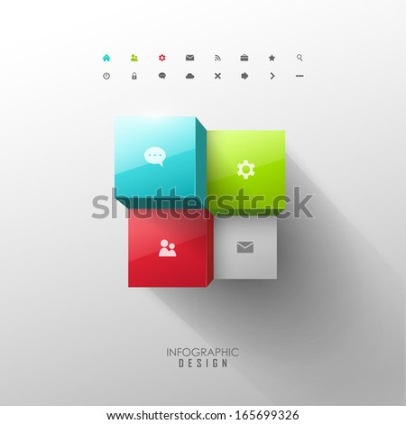 Vector infographic web design elements - stock vector