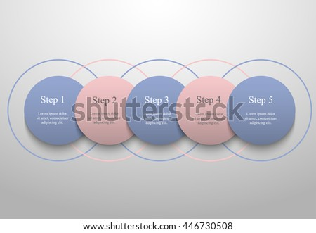Vector Infographic Pantone Colors Year  Stock Vector