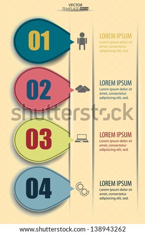 Vector infographics - a step by step presentation of your data - stock vector