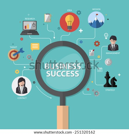 vector infographics background business success concept - stock vector