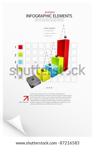 Vector infographics. Charts, bars, graphs - stock vector