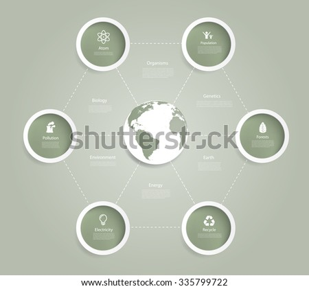 Vector infographics with eco elements. - stock vector