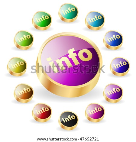 Vector information button set